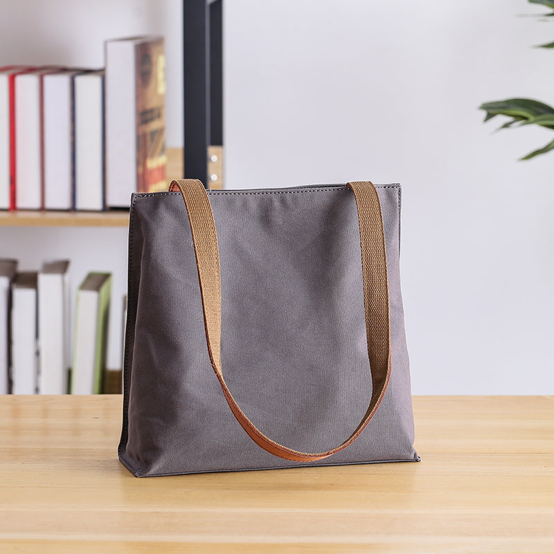 "Canvas Mens Womens 11"" Simple Tote Bag Handbag Tote Bag Shoulder Bag Tote Purse For Men"