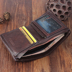 dc221941eb09 ... Genuine Leather Mens Cool Slim Leather Wallet Men Small Wallets Bifold  for Men ...