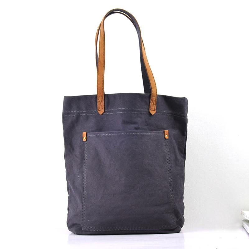 Simple Canvas Mens Womens Shoulder Tote Bag Messenger Bag Tote Handbag Side Bag For Men and Women