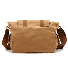 Green Waterproof CANVAS Mens 14'' Side Bag Khaki Messenger Bag FOR MEN