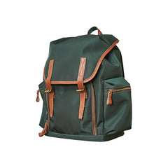 Fashion Black Nylon Leather Mens Backpack Nylon Travel Backpack Green Nylon School Backpack for Men