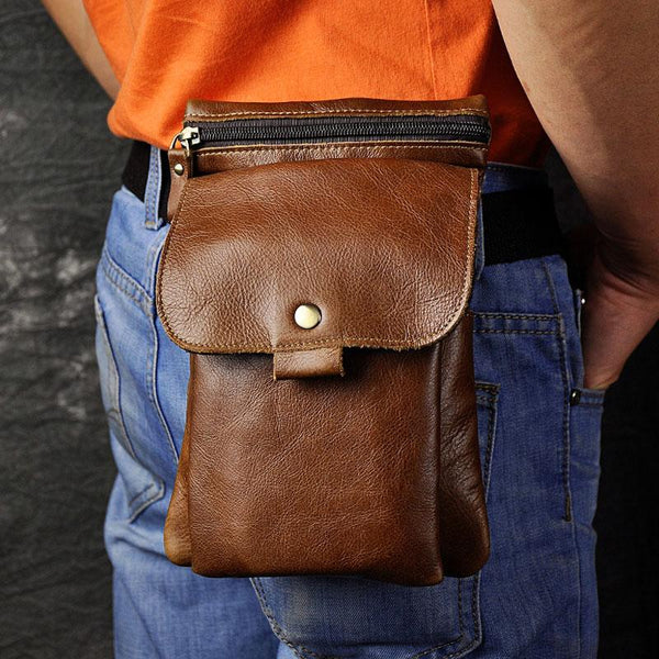 Leather Belt Pouches Cell Phone Holsters for Men Waist Bag BELT BAG Shoulder Bag For Men