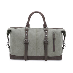 Canvas Leather Mens Large Blue Weekender Shoulder Bag Green Travel Duffle Bag Luggage Bag for Men