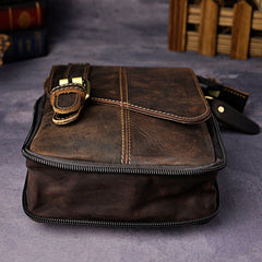 472d7f827afa ... Mens Leather Small Side Bag COURIER BAGs Waist Pouch Holster Belt Case  Belt Pouch for Men ...