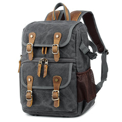 Khaki CANVAS WATERPROOF MENS 15'' CANON CAMERA BACKPACK LARGE NIKON CAMERA BAG DSLR CAMERA BAG FOR MEN