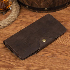 Coffee Cool Mens long Wallet Bifold Long Wallet Card Wallet Phone Wallet for Men
