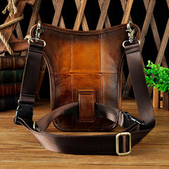 Cool Leather Biker Drop Leg Bag Mens Belt Pouch Waist Bag Shoulder Bag for Men