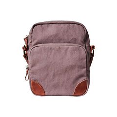 Cool Leahter Canvas Mens Side Bag Coffee Vertical Messenger Bags Courier Bag for Men