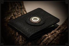 Handmade Leather Tooled Mens Short Wallet Cool Leather Wallet Slim Wallet for Men