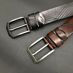 Handmade Cool Dark Brown Mens Leather Belt Black Leather Belt for Men