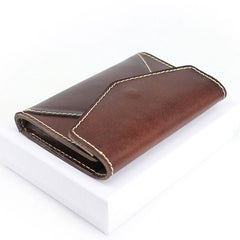 Leather Mens Card Wallet Front Pocket Wallet Envelope Cool Small Change Wallet for Men