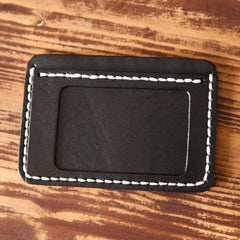 Handmade Mens Cool Short Leather Wallet Men Small Card Slim Wallets for Men