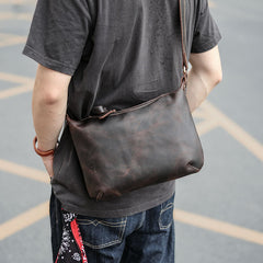 Dark Brown Leather Mens Casual 10