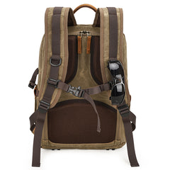 Canvas Waterproof Mens Large Nikon Camera Backpack Canon Camera Bag Dslr Camera Bag for Men