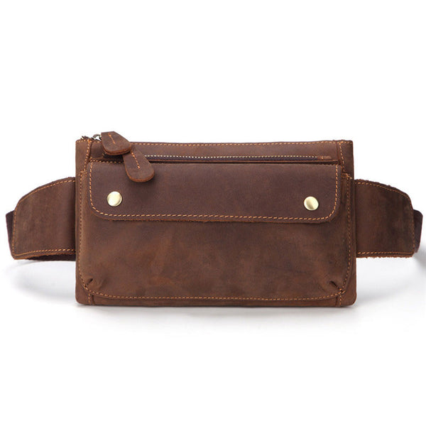 Cool Brown Vintage LEATHER MENS FANNY PACK FOR MEN BUMBAG WAIST BAGS