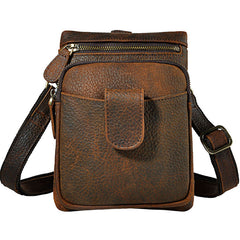 Mens Small Leather Belt Pouch Side Bag Holster Belt Case Waist Pouch for Men