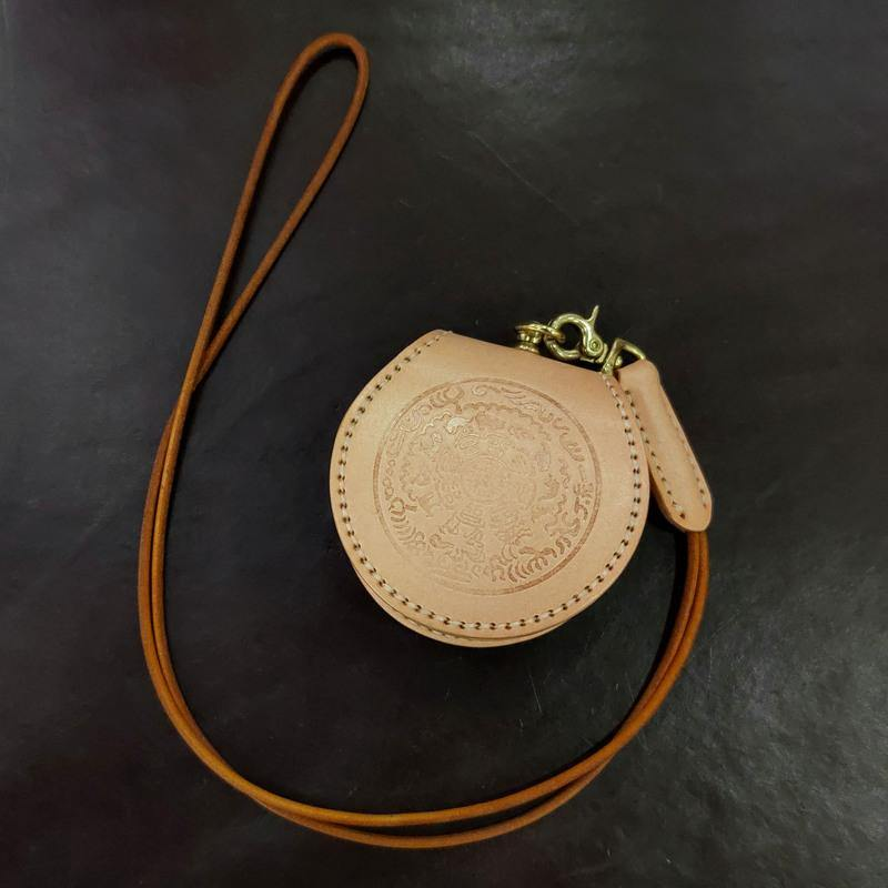 Cool Leather Brown Men's Womens Coin Holder Black Wristlet Change Wallet Coin Case For Men