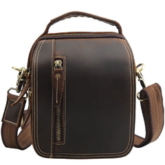 Cool Leather Vintage Small Side Bags Waist Bag Belt Pouch Small Shoulder Bags For Men