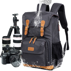 Blue LARGE CANVAS WATERPROOF MENS DSLR CAMERA BAG CANON CAMERA BACKPACK NIKON CAMERA BAG FOR Women