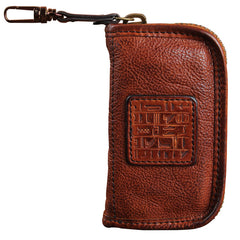 Handamde Genuine Leather Mens Cool Key Wallet Car Key Holder Car Key Case for Men