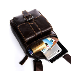 Cool Mens Leather Mens Belt Pouch Waist Bag Shoulder Bag Cell Phone Holster for Men