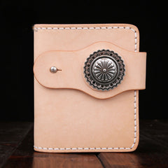 Handmade Leather Short Mens Chain Biker Wallet Cool Leather Wallet With Chain Wallets for Men