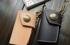Handmade Leather Mens Cool Key Wallet Car Key Holder KeyChain Wallet for Men