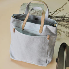 Minimalist Mens Womens Canvas Small Shoulder Tote Bag Messenger Bag Handbag Canvas Side Bag For Men Women