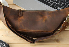Cool Mens Leather Belt Bag Fanny Pack Waist Bags For Men