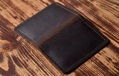 Handmade Leather Mens Cool Wallet Card Slim Wallet Change Coin License Wallet for Men