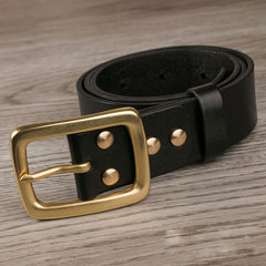 Handmade Genuine Custom Leather Mens Leather Men Black Belt for Men