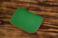 Handmade Leather Mens Cool Coin Change Leather Wallet Men Small Wallets Card for Men