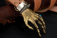 Handmade Genuine Custom God's Hand Cool Leather Mens Leather Men Beige Belt for Men
