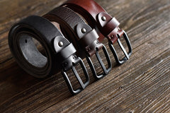 Handmade Leather Mens Leather Men Distress Vintage Brown Black Belt for Men Cool Leather Belt