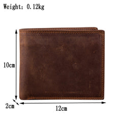 Bifold Leather Mens Large Wallet Small Wallet Short Wallet Driver's License Wallet for Men