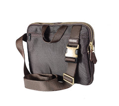Cool Black Leather Men 10 inches Chest Bag Messenger Bag Courier Bags Postman Bag For Men