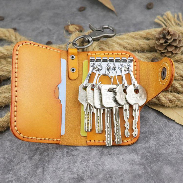Handmade Leather Key Case Key Wallet Men's Key Holders Car Key Holder Card Holder For Men