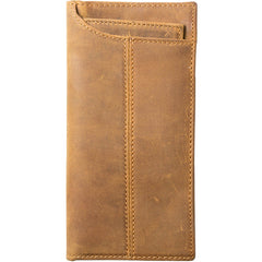 Black Cool Leather Mens Long Wallet Brown Long Wallet Vintage Bifold Long Wallet for Men