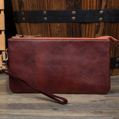 Black Cool Mens long Wallet Wristlet Bag Clutch Bag Red Brown Long Wallets for Men