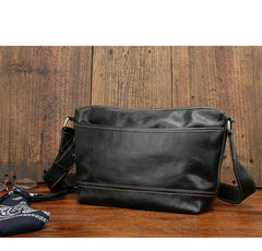 Black Leather Mens Casual 10