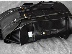 Black Leather Mens 15