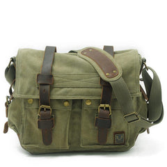 Black Gray Canvas Leather Large Messenger Bag Crossbody Bag Black Gray Canvas Satchel Bag For Men