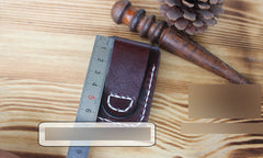 Handmade Mens Black Leather Slim Zippo Lighter Case Belt Zippo Lighter Holder with Belt Loop