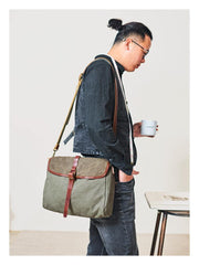 Fashion Canvas Mens Side Bag Canvas Messenger Bags Canvas Satchel Courier Bag for Men