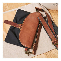 Cool Canvas Leather Mens Messenger Shoulder Bag Small Canvas Side Bag Courier Bags for Men