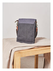 Canvas Mens Vertical Messenger Shoulder Bag Green Waxed Canvas Small Side Bag Courier Bag for Men