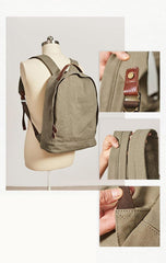 Canvas Mens Backpacks Canvas Satchel Backpack Canvas College Backpacks for Men