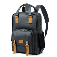 CANVAS WATERPROOF MENS 15'' CANON CAMERA BACKPACK LARGE NIKON CAMERA BAG DSLR CAMERA BAG FOR MEN