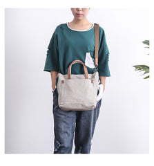 Canvas Mens Womens Large White Handbag Small Tote Bag Khaki Shoulder Tote Purse For Men