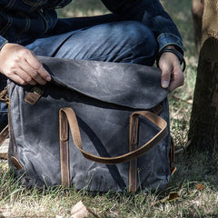 Canvas Messenger Bag for men Vintage Handbag Shoulder Bag for men